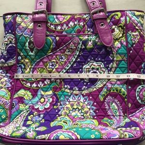 Vera Bradley Heather Paisley Leather Tote